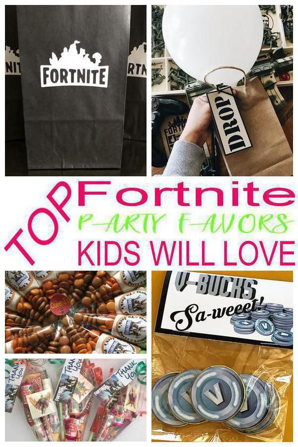 Birthday Party Favors! Fortnite party favors for a kids bday. The best Fortnite favor ideas all children will love for your Fortnite theme party. Fun & easy ideas for a boy or girl party! Goodie bags, candy, gumballs, & more great take home favors for your guests and can serve as decorations too. Find the best Fortnite party favor supplies / ideas now! #fortnite #fortniteparty #gamer