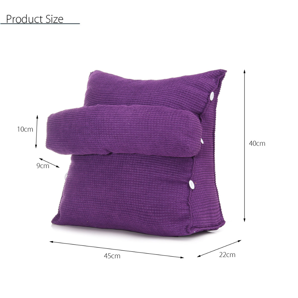 Triangle Sofa Cushion Back Pillow Bed Backrest Office