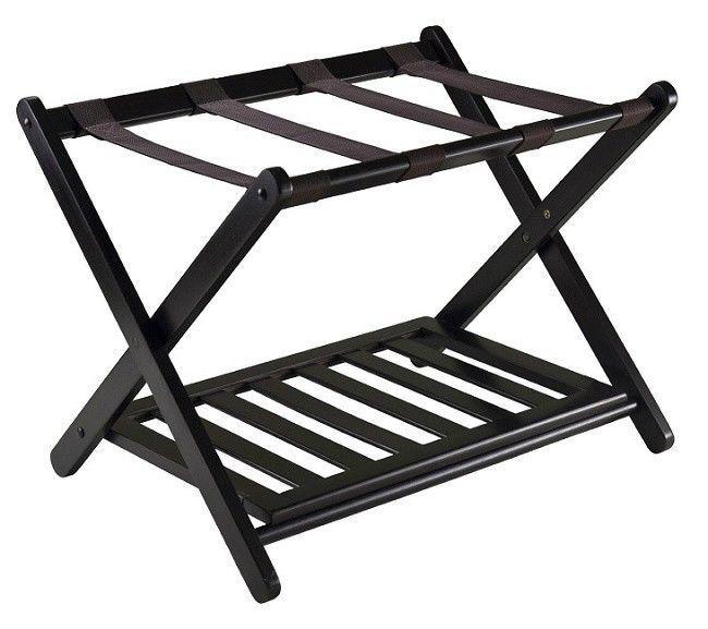 Portable Luggage Rack Best Hotel Large Two Tier Folding Shelf
