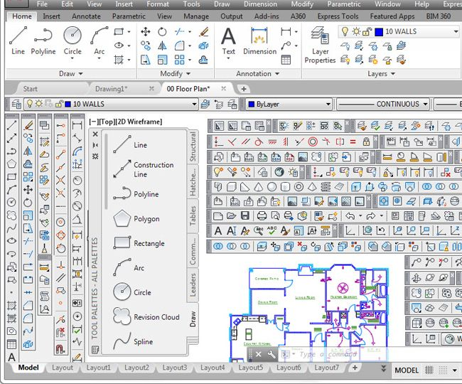 Download AutoCAD dwg files on 50 modern house plan chair - copy blueprint editing app