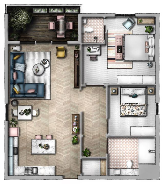 """SketchUp Hub no Instagram """"Good morning Here's a new sketchup official floor plan for you This floor plan was made to satisfy those pesky questions I all the…"""""""