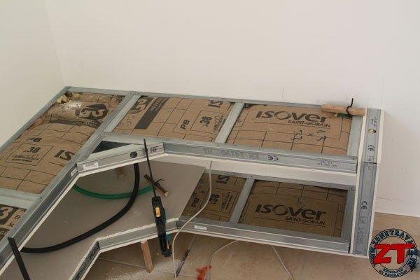 Meuble-TV-placo_32 GK-Achreibtisch Pinterest - fabriquer meuble en placo