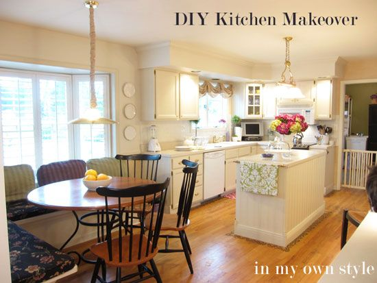 This DIY kitchen makeover turned out beautifully  From Diane of In My Own  Style blogDIY Kitchen Makeover   Kitchens. Make A Kitchen Island From Stock Cabinets. Home Design Ideas