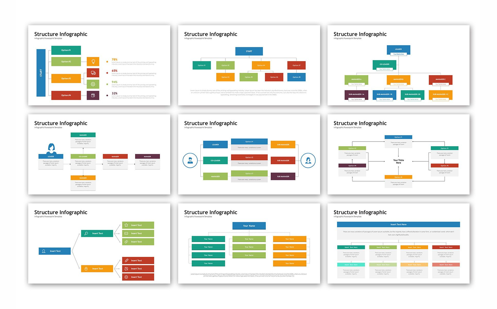 Structure Infographic Powerpoint Template 74537