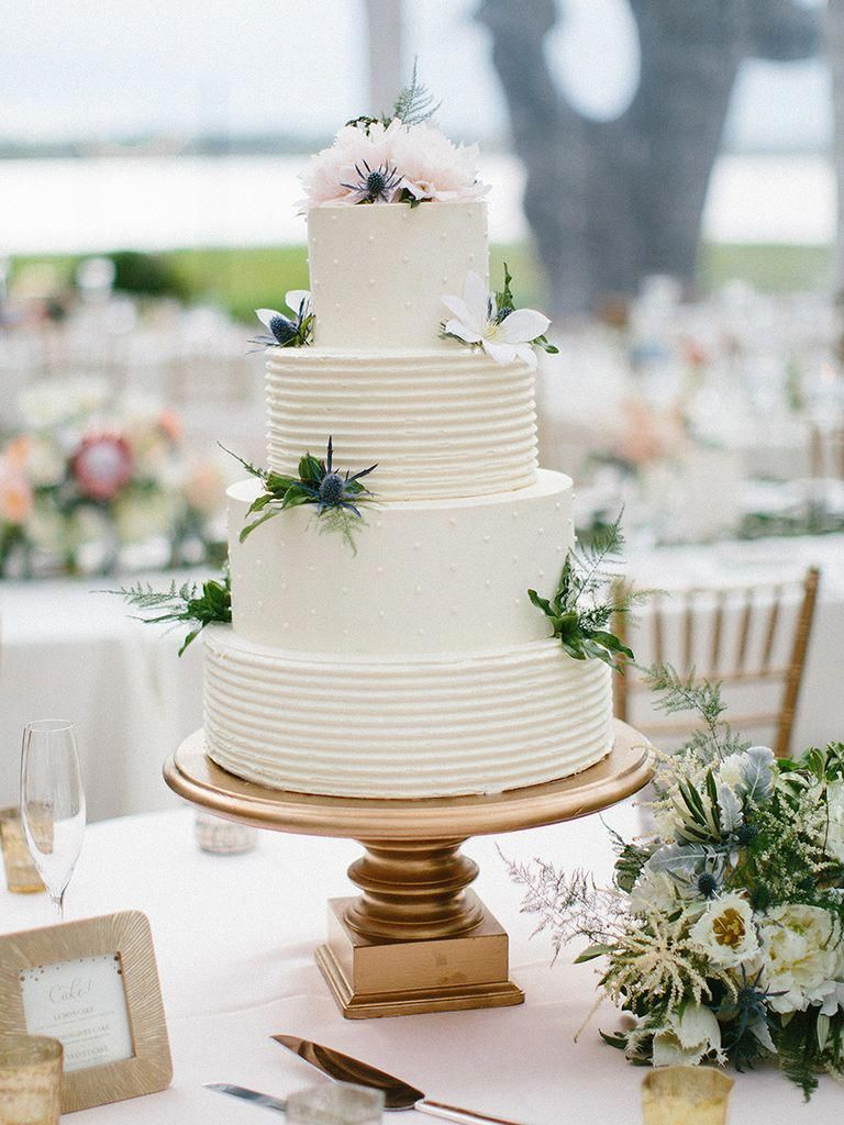 gorgeous flowercovered wedding cake ideas theknot