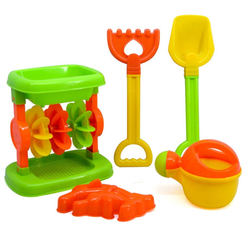 Toys for kids kitchen set   Pieces Beach Sand Toy Set with Mesh Bag for Kids  Color Random