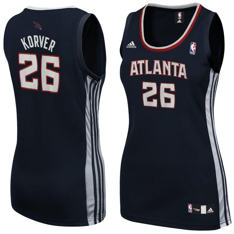 6f32c8678fa ... uk kyle korver atlanta hawks adidas womens replica jersey navy blue  b1eec c1fd6 ...