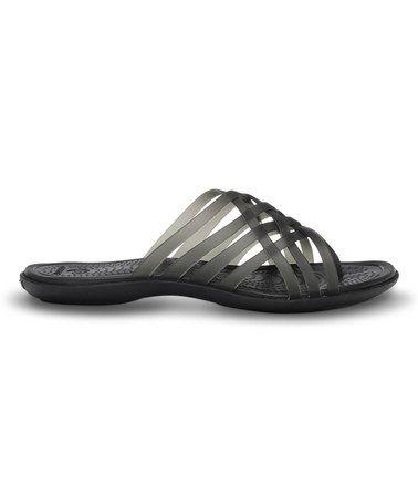 89728abbb Love this Black Huarache Sandal - Women by Crocs on  zulily!  zulilyfinds