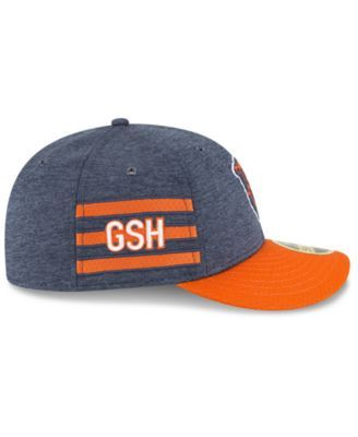 meet 79da7 99ec7 New Era Chicago Bears On Field Low Profile Sideline Home 59FIFTY Fitted Cap  - Navy Orange 7 5 8