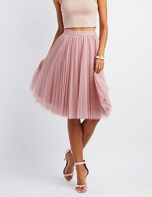4275cd1289 Tulle Full Midi Skirt #charlottelook | Charlotte Russe | Skirts ...