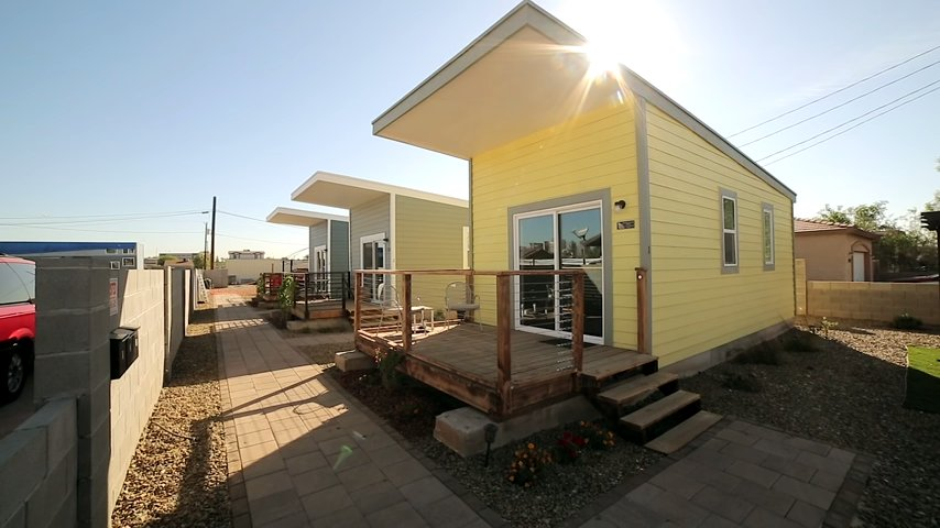 Tiny House Community For Veterans In Phoenix 288 Sf Each