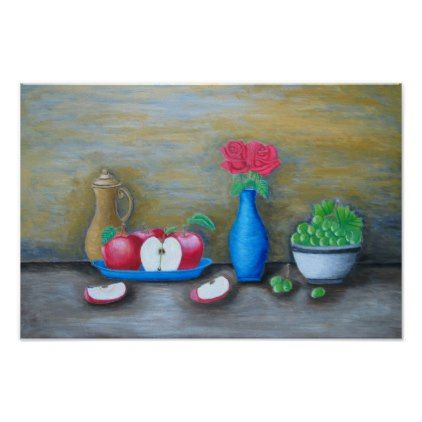 still life fruits poster - decor gifts diy home & living cyo giftidea