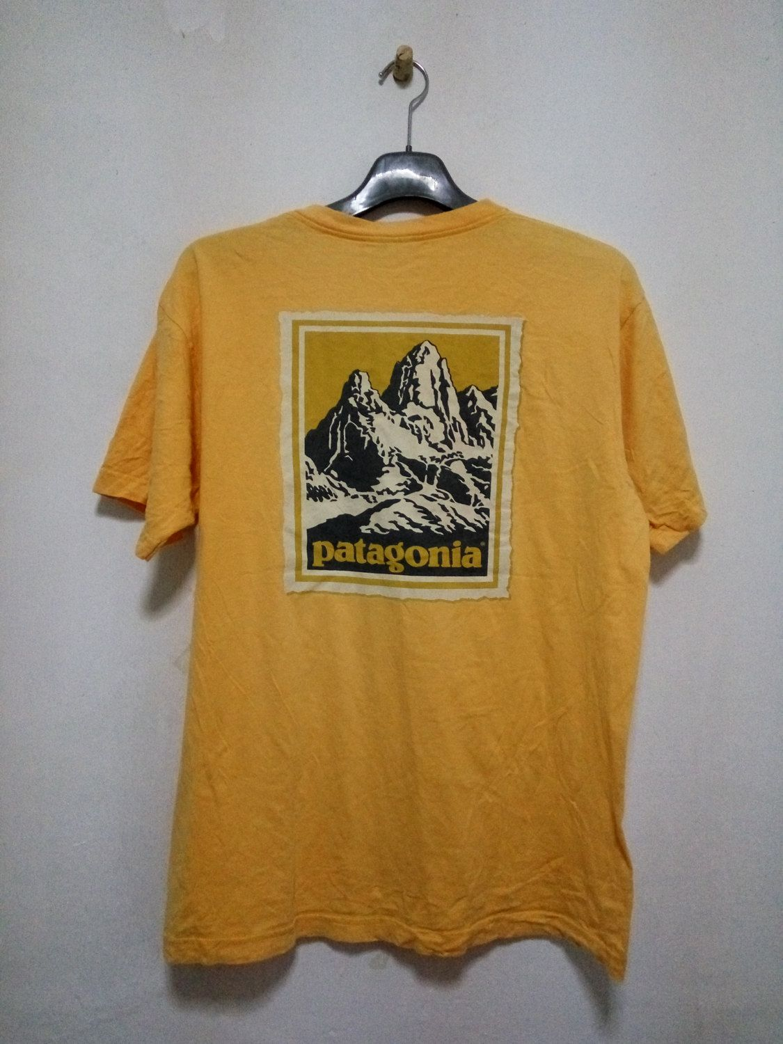 85297c7d Vintage Patagonia Size M medium Made In USA Yellow Colour by  GoShopVintageStore on Etsy