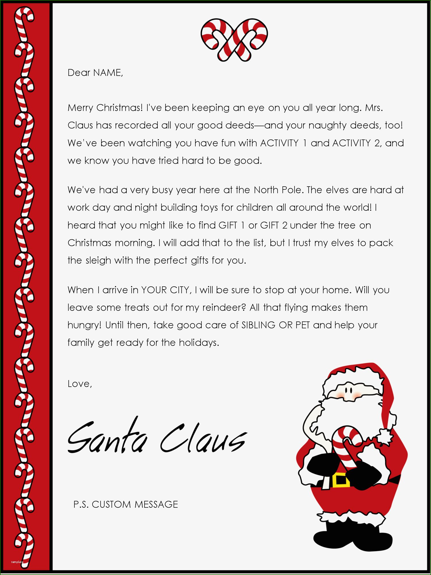 Letter From Santa Template Word 14 Judgment with Photos