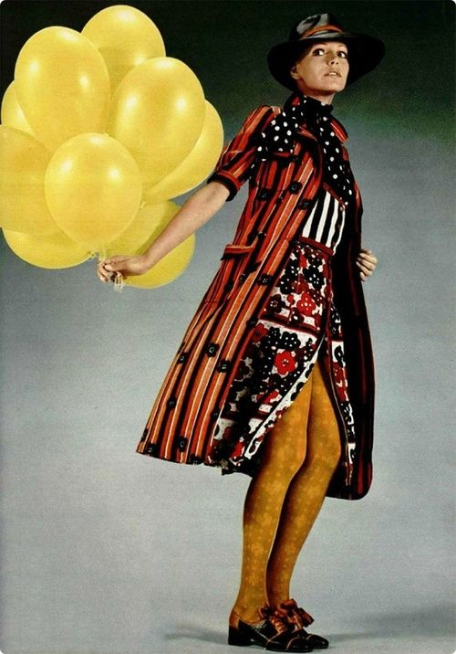 Fashion by Emanuel Ungaro in L'Officiel, 1971. Photo by Roland Bianchini.