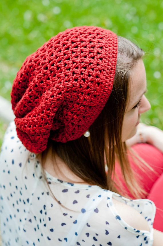 Seattle Slouch Crochet Beanie Pattern Teen & by SweetKiwiCrochet ...