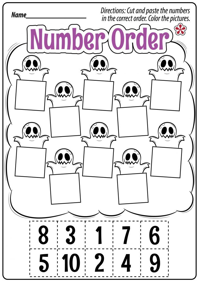 Halloween Math Worksheets for Preschool and Kindergarten