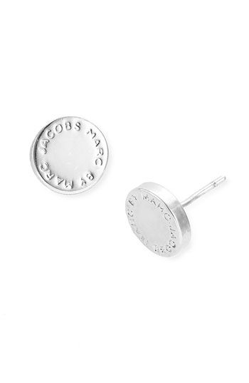Marc By Jacobs Logo Disc Stud Earrings Available At Nordstrom Simple And Stylish