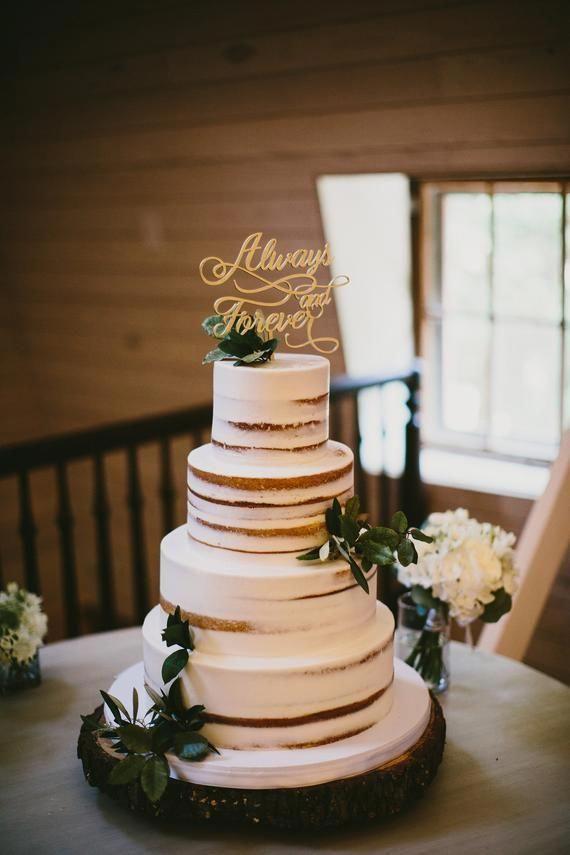 Always and Forever Cake Topper // Wedding Cake Topper // | Etsy