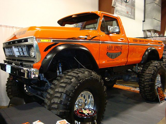 """1976 Ford F-250 """"Monster 4X4"""" Pickup Truck   Jacked up ..."""