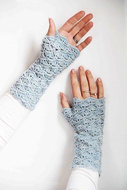 Crochet Fingerless Gloves Free Patterns | Pinterest | Strick ...