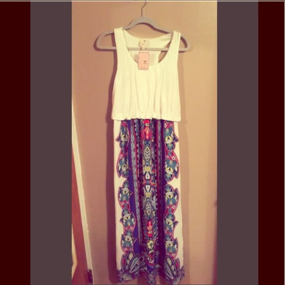 NWT! Honeymoon Avenue Maxi Dress NWT! This dress, which will be perfect for the summer season has just sat in my closet! Needs some TLC! Wonderful Material! Dresses Maxi