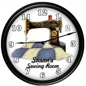 Sewing Instruments Hobby Sew Vinyl Record Wall Clock Gift For Woman Home Decor