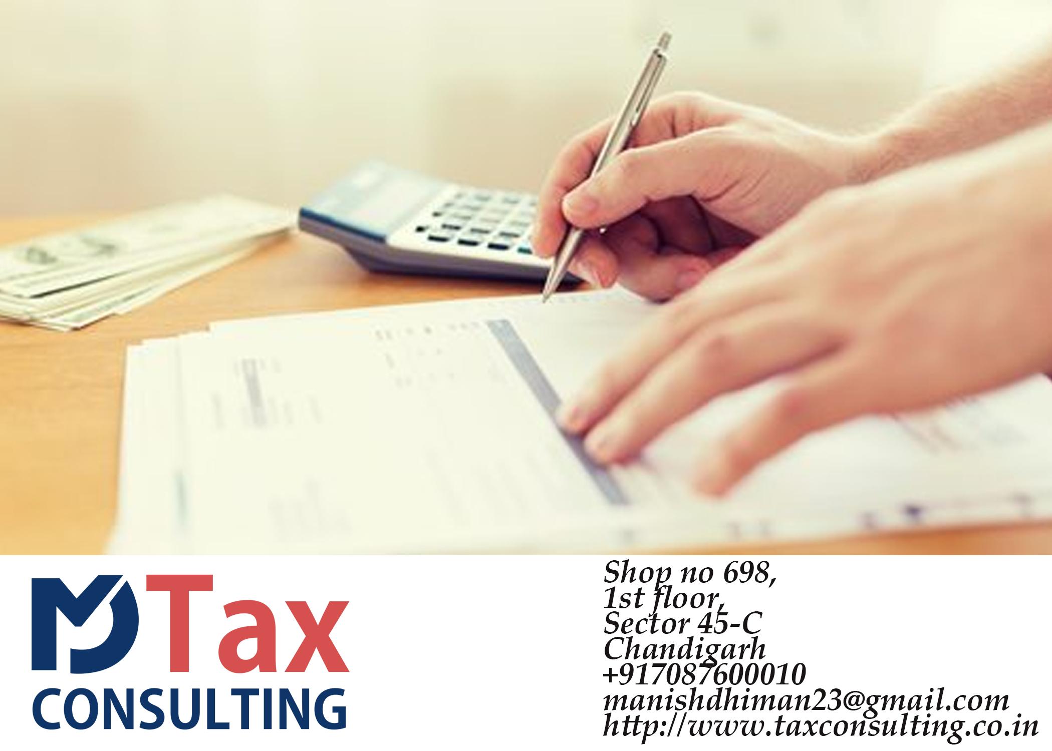 Tax Consultant Gst Itr E Filing Chandigarh Zirakpur