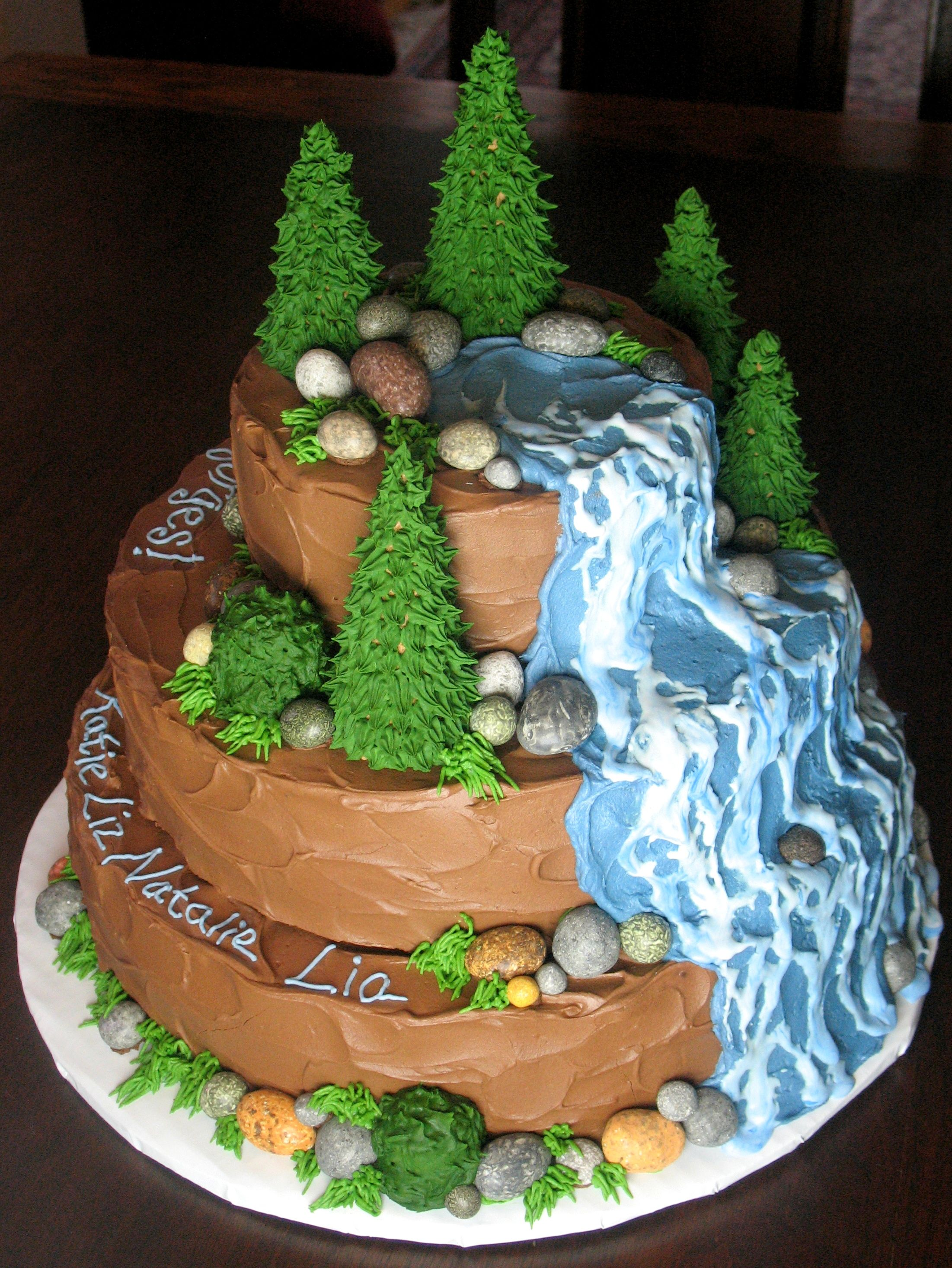 Waterfall Graduation Cake 5 20 11 Chocolate Cake With