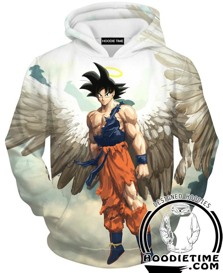 Angel Goku Hoodie Dragon Ball Z Hoodies Full Printed Clothing Anime Dragon Ball Super Dragon Ball Anime Dragon Ball