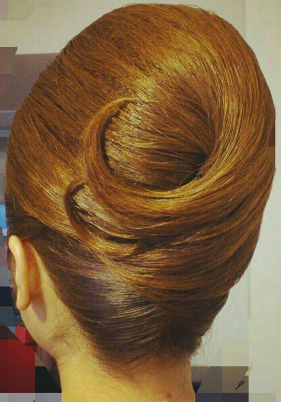 60's style hair | Long hair styles, French twist hair, Hair styles