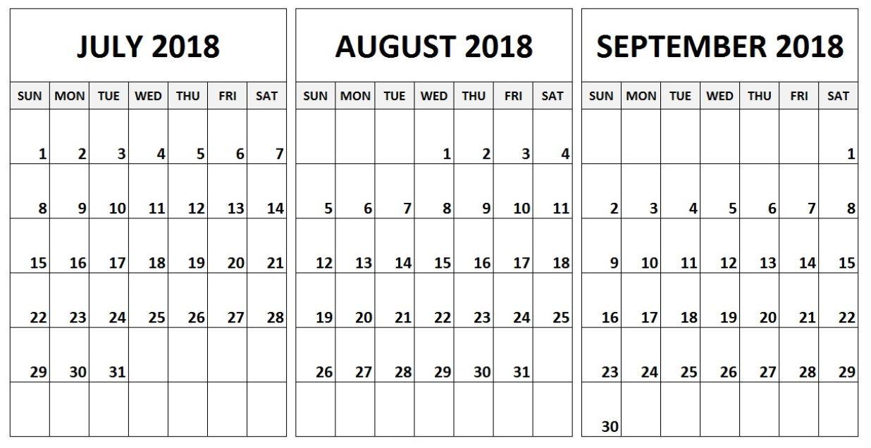2018 q3 printable calendar quarterly calendar calendar printable