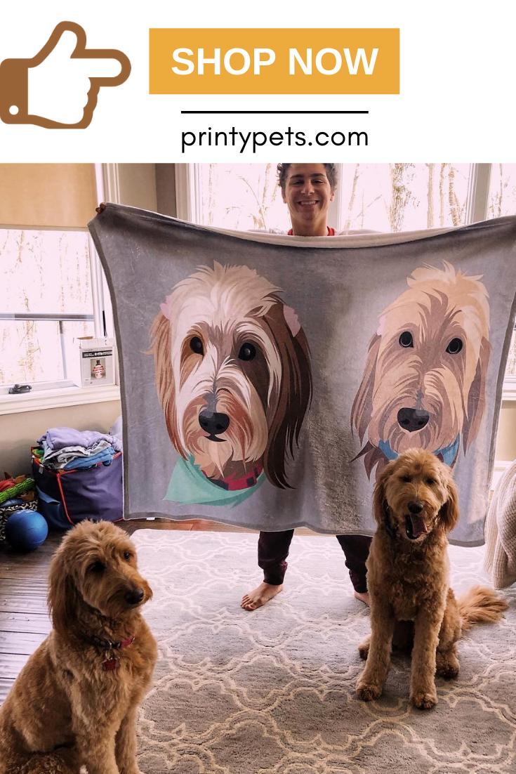 Custom Pet Print Fleece Blanket Pets Puppy Beds Happy Dogs