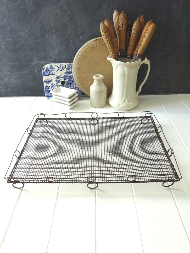 Antique Victorian Wirework Cooling Rack Patisserie Baking Etsy