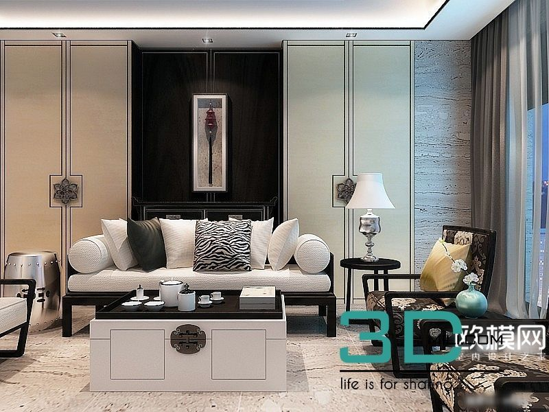 65 Living Room 3dsmax File Free Download Chinese Style Interior Asian Home Decor Chinese Interior