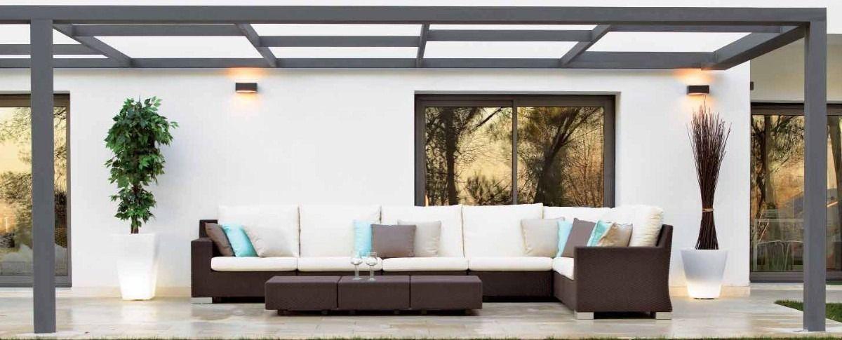 Pergolas de hierro con policarbonato buscar con google for Ideas techos para terrazas