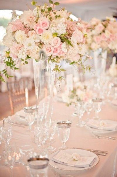 decoración de bodas en rosa cuarzo y azul serenity: 30 ideas
