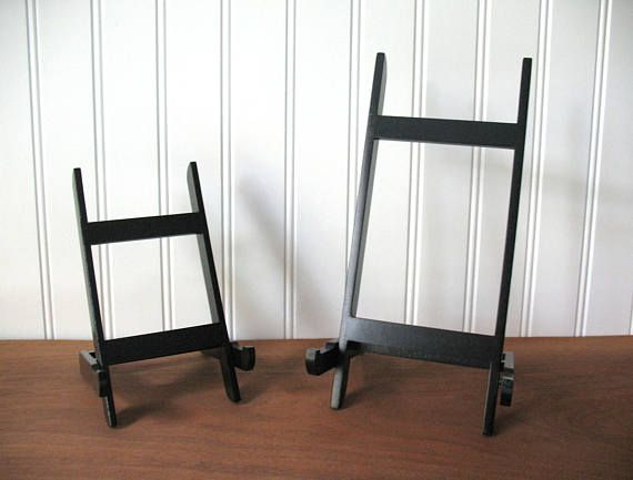 Table Top Easel Display Stand 41 41 Wood SHAKER STYLE EASEL Table Top Black  Stands Wooden