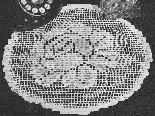 1942 Rose o\'Summer Doily Vintage Filet Crochet Pattern PDF 220 ...