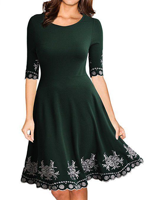 Miusol Damen Abendklei Sommer Kurz Vintage Rockabilly Kleid Cocktail Ballkleid Gruen Gr S Modische Kleider Fur Frauen Partykleid Kleider Damen