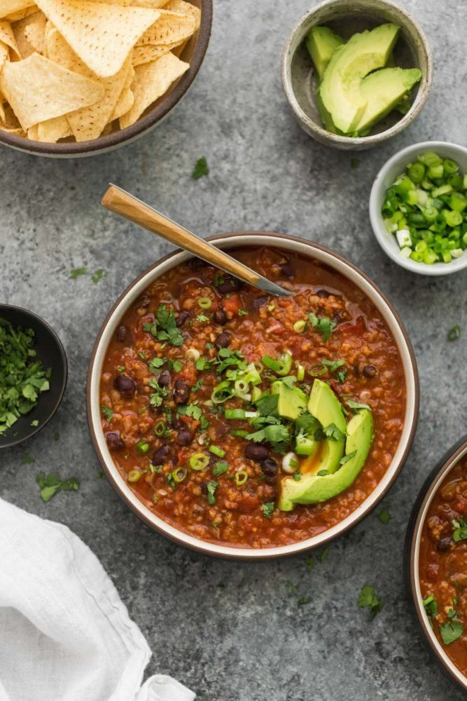 Slow Cooker Chipotle Black Bean Chili