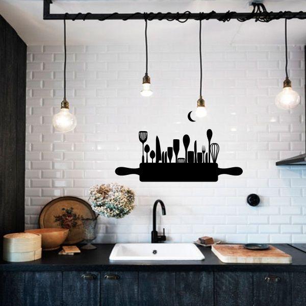 Da Click Vinilo Decorativo Skyline Cocina Casa