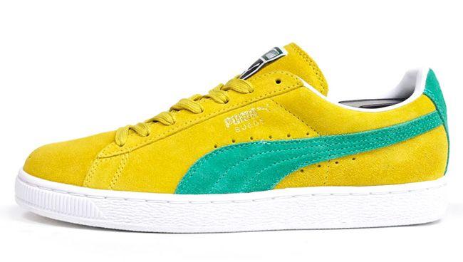 puma yellow and green