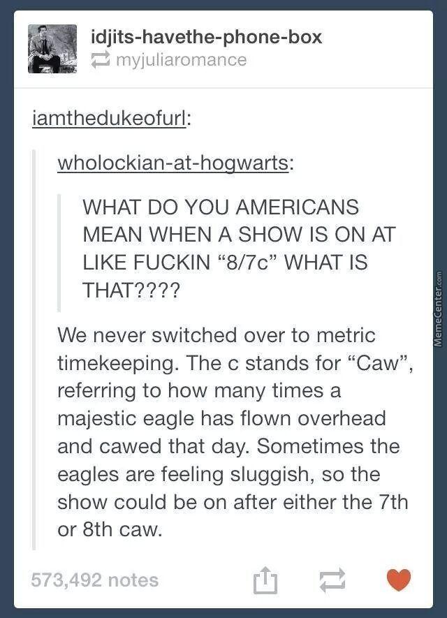 The eagle caws