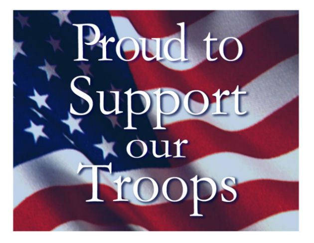 Image result for proud to support the military