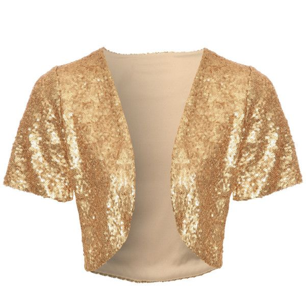 Jane Norman All over sequin shrug ($15) ❤ liked on Polyvore ...
