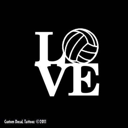 Pin By Caty Herrin On 4 The Love Of Volleyball Custom Decals Car Stickers Car Window Decals