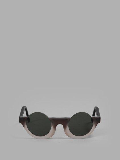 8a7c76b133 JULIUS JULIUS x KUBORAUM BLACK WHITE M6 SUNGLASSES.  julius  eyewear ...