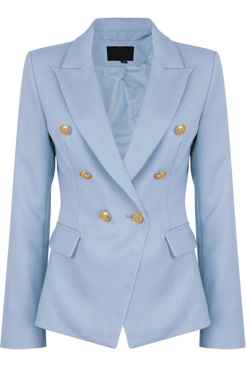 e3fbdcfb baby blue blazer, balmain blazer dupe, balmain inspired blazer, balman  blazer