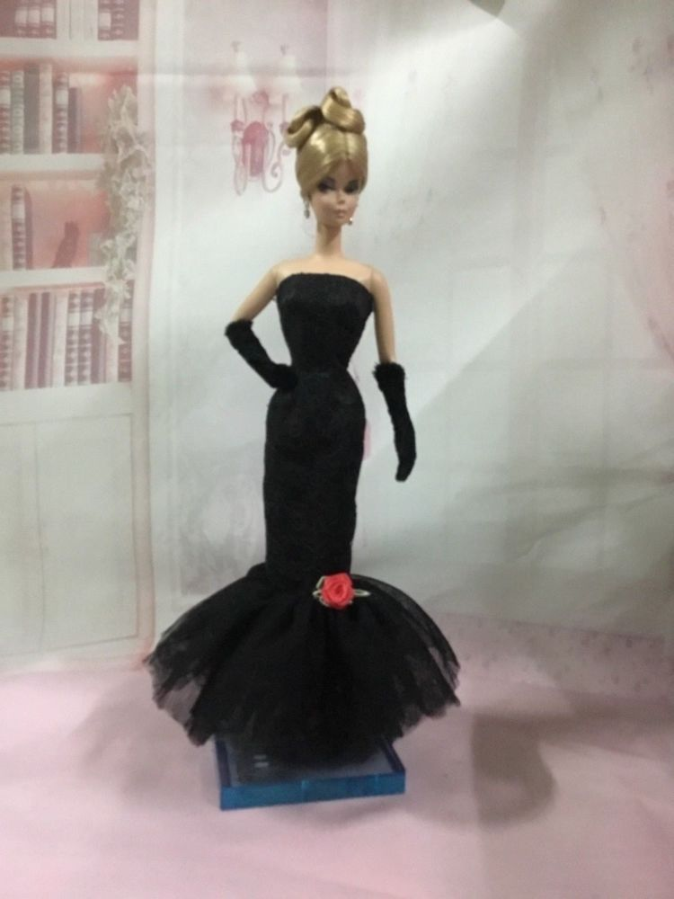 Handmade Vintage Little Black Dress//Clothes//Outfit For 11.5in.Doll Silkstone b1